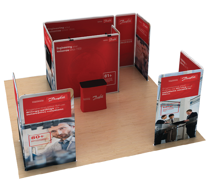 exhibition stand for shell scheme