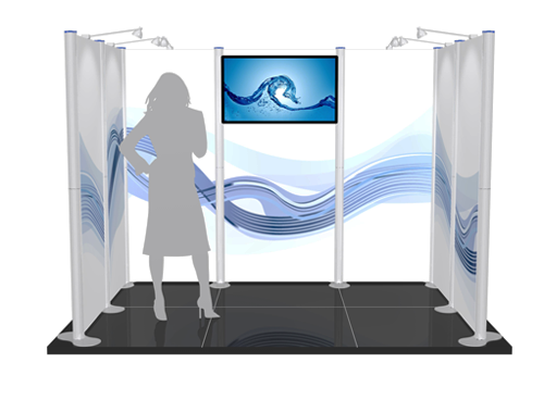 fabric formulate exhibition stand