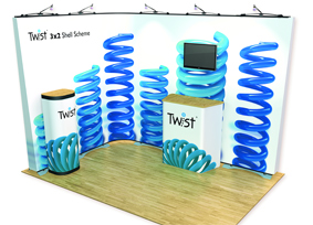 twist exhibition stand