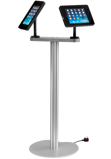 Exhibition Stand Vat : Ipad duo holder for with double head