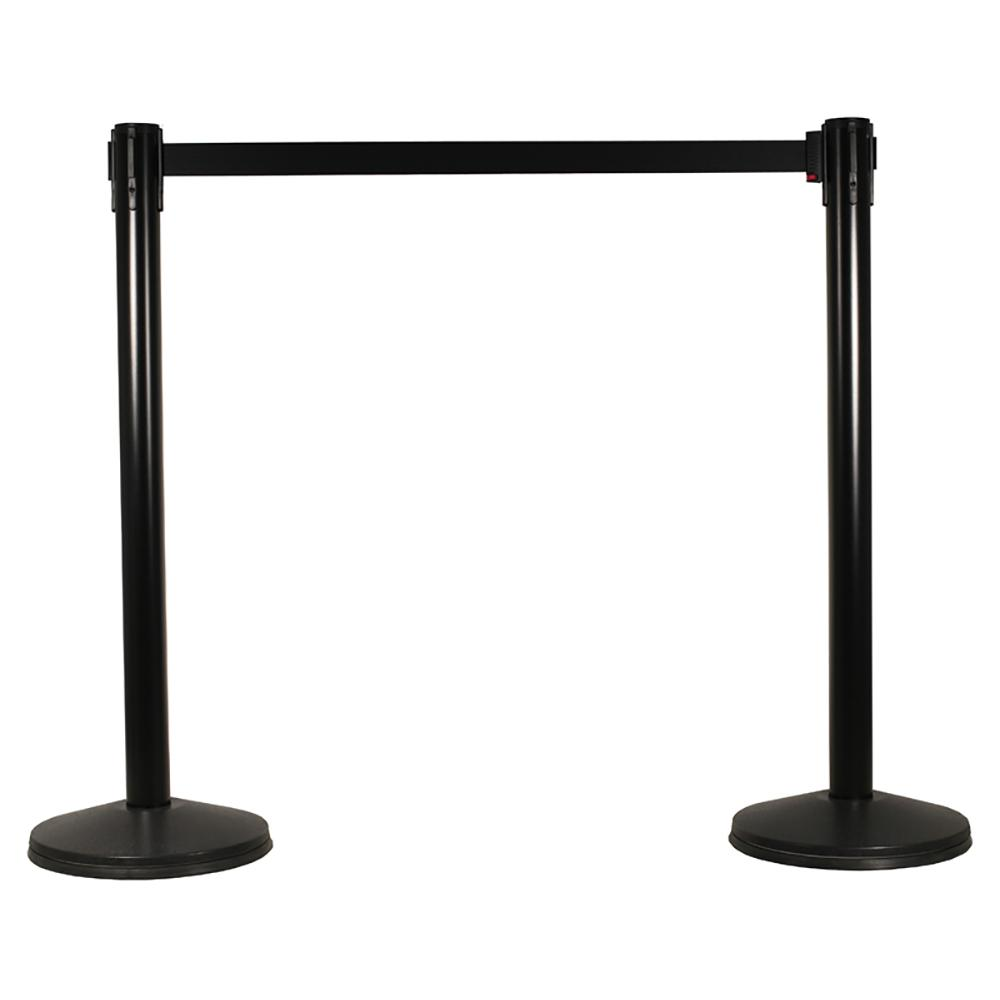 Lowest Cost BELT Barrier in Black for cafes, restaurants, pubs, schools, crowd control, queue system.