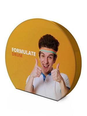 Formulate Drum Fabric Pop Up  Exhibition Stand With Carry Bag