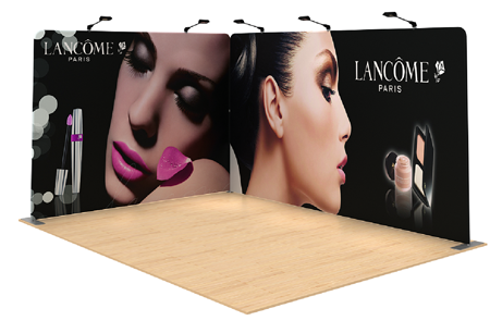 L SHAPED POPUP EXHIBITION STAND FABRIC SYSTEM KIT 2