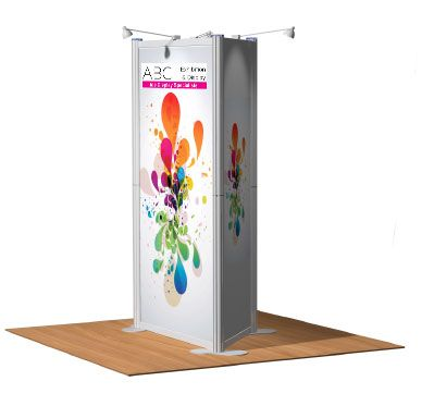 Triangular Display Tower for shops, offices, exhibitions, schools, colleges, stores, events, sign