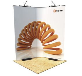TWIST CURVE EXHIBITION STAND  BANNER