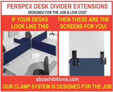 cheapest desk divider perspex extension system